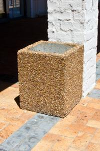 square ash bin