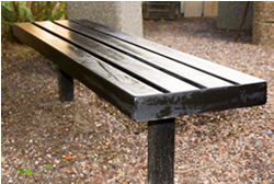 Steel Planted Bench