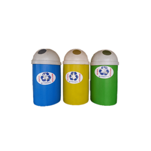 75l Round Litter Bin with Dome Lid